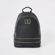 River Island Womens Black zip backpack (One Size)