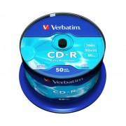 CD-R lemez, 700MB, 52x, hengeren, VERBATIM DataLife (CDV7052B50DL)