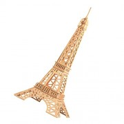 Imported DIY 3D Wooden Jigsaw Eiffel Tower Model Construction Kit Toy Puzzle Gift