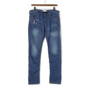【78%OFF】D.E BLACKIE クラッシュ デニム調 イージーパンツ ブルー 32 ファッション > メンズウエア~~パンツ