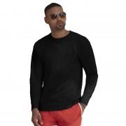 Fruit Of The Loom Lange mouwen stretch t-shirt zwart voor heren