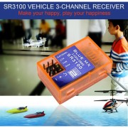 ER SR3100 2.4G Banda 3 Carrera Car-Truck Canal Receptor Para DX3R DX3E DX2S DX4C
