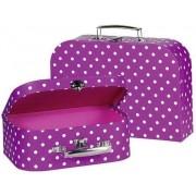 GOKI Malinowe walizki dla dzieci - zestaw walizek w kropki 2 szt., 60106