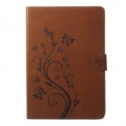 Shop4 - iPad Pro 10.5 Hoes - Book Cover Vlinder Patroon Bruin