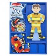 Дървен комплект, Джоуи с магнитни дрехи Melissa and Doug, 000772135504