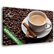 Egy csésze kávé, fahéjjal (40x25 cm, Vászonkép )