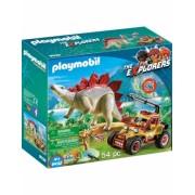 Cercetator - Masina De Teren Si Stegosaurus Playmobil