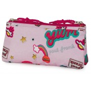 Etui Paul Frank Girls pink: 10x21x6 cm