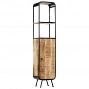 vidaXL Висок шкаф, 40x30x180 см, грубо мангово дърво масив
