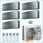 Daikin Klimaanlagen Penta Split Wand R-32 Stylish Silbernen 7+7+7+7+12 Btu WiFi FTXA20AS +FTXA20AS 5MXM90N A++/A+
