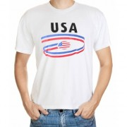 Bellatio Decorations T-shirts met USA opdruk volwassenen