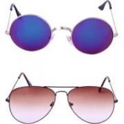 Amour-Propre Retro Square, Aviator Sunglasses(Multicolor)