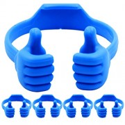 Cell Phone Tablet Stands (5 Packs): Honsky Thumbs-up Cellphone Holder, Tablet Display Stand, Mobile Smartphone Mount Cradle for Desk Desktop - Universal, Multi-Angle, Cute, Blue