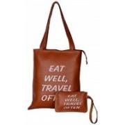 Multi-Zone Women Brown Shoulder Bag