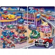 Set 2 Puzzle-uri Masinute 15 piese Larsen LRU14 B39016898