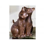 Decoratiune cu grup de 2 pisici din rasina cod HAL016