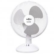 Настолен вентилатор SAPIR SP 1760 DC9, 19W, 23 см, 2 степени на скоростта, Регулиране на наклона, Бял/сив