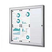 Jansen Display Interiérová vitrína Economy 6xA4, plechová záda, atest B1