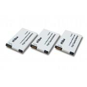 vhbw 3x Li-Ion batterie 950mAh (3.7V) pour combiné téléphonique téléphone fixe Siemens Gigaset SL4 Professional, Unify Openstage SL4