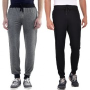 Pack Of 2 Mid-Rise Track Pants For Men'S (Combo)