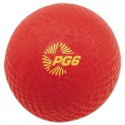 Champion Sport PG6RD Playground Ball, 6 Diameter, Red
