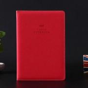 A5100 Paginas Tapa Blanda De Cuero Cuaderno De Cuero A5100 Paginas Tapa Blanda Notebook Pocket Memo (rojo)