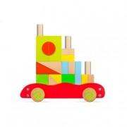 Color Baby Play & Learn - Carrito de Bloques de Madera
