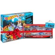 Hot Wheels Color Shifter Sharkport Showdown BGK04 Get Free Mattel 12 pcs car set box (Multicolor)