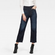 G-Star RAW Dames Tedie Ultra High Straight Ripped Edge Ankle C Jeans Donkerblauw - Dames - Donkerblauw - Grootte: 34-34 34-32 33-34 33-32 32-34 32-32 32-30 31-34 31-32 31-30 30-34 30-32 30-30 29-34 29-32 29-30 28-34 28-32 28-30 28-28 27-34 27-32 27-30 27
