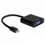 Cablu Gembird A-MDPM-VGAF-02 Adaptor Mini DisplayPort la VGA 0,15m Negru