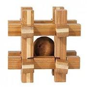 Joc logic IQ din lemn de bambus Box with ball