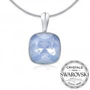 Silvego SILVEGO stříbrný přívěsek se Swarovski(R) Crystals modrý opál 12mm - VSW051P