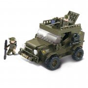 Stavebnice Sluban Army Jeep s kulometem M38-B0299