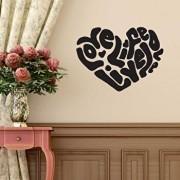 Sticker decorativ de perete Sticky, 260CKY5043, Negru