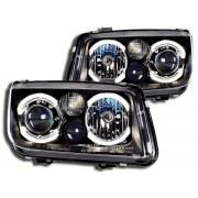 Faruri Angel Eyes cu lampi de ceata VW Bora 1J 99-04 negru