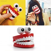 ELECTROPRIME 173A Plastic+Electric Gag Gifts Wind Up Toys Clockwork Teeth Toys Funny