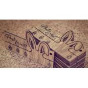 Etichete de cadou din lemn pentru vin - 6.5x3cm (Tag lemn: Craciun fericit, cod VB006CRF)