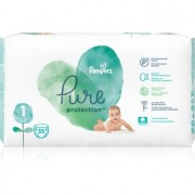 Pampers Pure Protection Size 1 scutece (2-5 kg) 35 buc