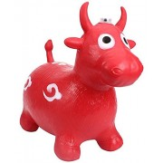 Tickles Inflatable Bull Animal Toy for Kids small 26cm (Multicolour) - Pack of 1