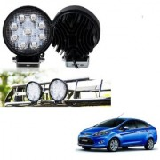 Auto Addict DEVICE 4 inch 9 LED 27Watt Round Fog Light with Flood Beam Auxiliary Lamp Set Of 2 Pcs For Ford Fiesta