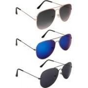 NuVew Aviator Sunglasses(Black, Grey, Blue, Violet)