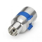 Goobay Confezione 10 Adattatori Coassiali Maschio per Cavi Diametro 6,5/8,0mm