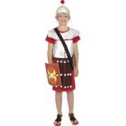 Costum de carnaval de soldat roman rosu pentru copii 7-9 ani