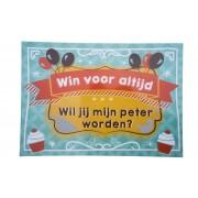 Kraskaart Peter Balloons & Cupcakes - Wil je mijn Peter worden?