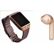 Mirza DZ09 Smart Watch and HBQ I7R Bluetooth Headphone for SAMSUNG GALAXY S6 EDGE(DZ09 Smart Watch With 4G Sim Card Memory Card  HBQ I7R Bluetooth Headphone)