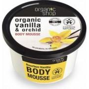 Mousse Organic Shop delicios pentru corp Bourbon Vanilla, 250 ml