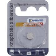 Baterie buton oxid de argint 317, 1.55 V, 10.5 mAh, Conrad energy SR62