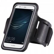 Husa banderola brat / mana pt alergat, sala, bicicleta compatibila cu telefoane cu display pana la 6 inch, Gema, negru