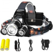 Rechargeable Zoomabl Led Headlight Head Lamp Light Torch Flashlight - 32B