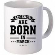 Cana personalizata ceramica 300 ml Legends are born in March